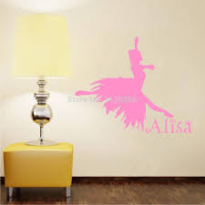 popular name vinyl stickers buy cheap name vinyl stickers lots customer made the girl dancing ballet wall decals for bedroom decor personalized any name vinyl