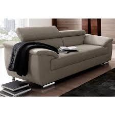 canape fauteuil cuir salon dossier modulable pvc gris9015 akano canapé 3 places en tissu aspect tweed avec appui têtes réglables