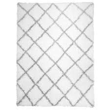 home dynamix carmela ivory gray trellis shag 9 ft 2 in x 12 ft