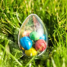 fillable easter eggs easter egg small shaped fillable clear plastic container yolli