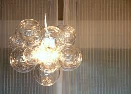 Chandelier Single Interior Design Cascading Glass Bubble Chandelier Cascading