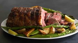 lamb with asparagus and potatoes
