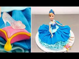 doll cake disney princess cinderella doll cake how to make by cakes