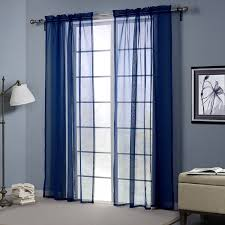 Navy Window Curtains Lovely Navy Sheer Curtains Blue For Living Room Tulle Window
