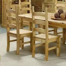 Pine Dining Chair Segusino Mexican Pine Furniture Segusino Mexican Dining Chairs X2