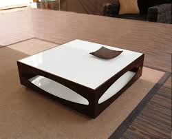 brown square coffee table coffee accent tables modern square brown and white glass coffee