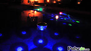 solar pool lights underwater underwater light show the floating disco ball youtube