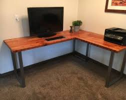 reclaimed wood l shaped desk rustic l shaped desk made from reclaimed wood by crtcreative