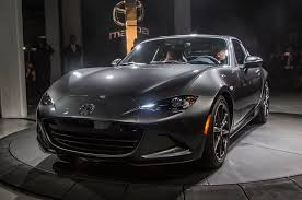 mazda automobile 2017 mazda mx 5 miata retractable fastback debuts automobile