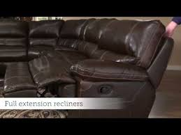 motion sofas and sectionals dillon motion sectional by bassett furniture youtube