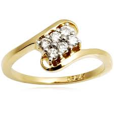engagement rings india simple gold diamond ring at rs 19000 diamond rings id