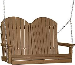 Luxcraft Fine Outdoor Furniture by Luxcraft 4 U0027 Adirondack Poly Swing From Dutchcrafters