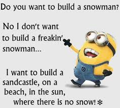Hate Snow Meme - minions hate snow terriblefacebookmemes