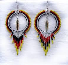 hoop beaded earrings free beaded earring patterns home earrings