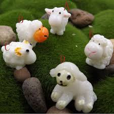 online shop 5 pcs kawaii mini sheep animals home micro fairy