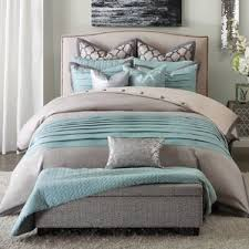Gray And Turquoise Bedding Modern Blue Bedding Sets Allmodern