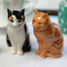 cat salt and pepper pots by home u0026 glory notonthehighstreet com