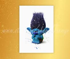 Home Decor Parties Trolls Branch Poster Trolls Watercolor Branch Print Home Decor