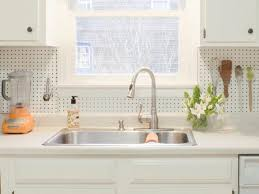 Stainless Steel Sink With Bronze Faucet Diy Kitchen Backsplash Kit Silver Color Stainless Steel Countertop