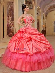coral pink quinceanera dresses and hot pink quinceanera dress with one shoulder skirt