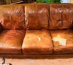 Leather Sofa Refinishing Easy Quick Fix For A Battered Couch Couch Redo Upholstery And