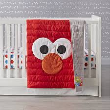 Elmo Bedding For Cribs Sesame All Elmo Crib Bedding Crate And Barrel