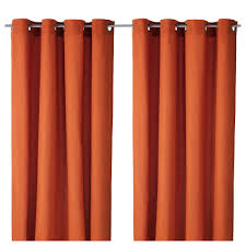 Orange And White Curtains Mariam Curtains 1 Pair Ikea