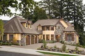 this luxury european cottage house plan 4912 combines stucco and