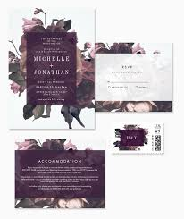 wedding invitations floral gorgeous modern vintage floral wedding invitations from phrosné ras