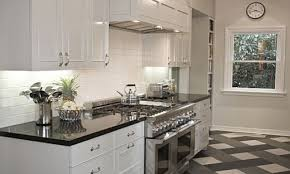 White Kitchen Cabinets With Dark Floors by Kitchen Cabinets White Cabinets And Granite Countertops In