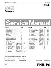 philips tv ch a02e aa service manual electrical connector