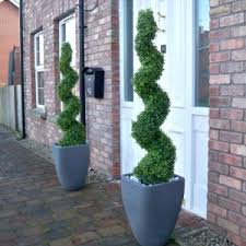 Topiary Planters - pair of artificial topiary ball trees with planters 3ft the
