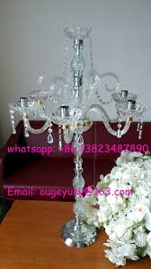 Wedding Chandelier Centerpieces Tall Wedding Candelabra Centerpieces Glass Candelabra For Table