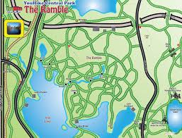 Map Central Park The Ramble Map