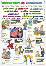 phrasal verbs esl printable worksheets and exercises