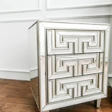 Small Mirrored Nightstand Gorgeous Mirrored Nightstand Featuring Beveled Lids Detail And
