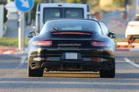 porsche 911 facelift porsche 911 targa facelift shows headlights in spyshots