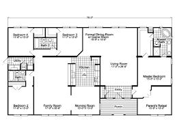 triple wide mobile homes floor plans the gotham vr41764b manufactured home floor plan or modular floor