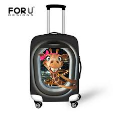 suitcases frog pattern anti scratch travel luggage cover suitcase protective