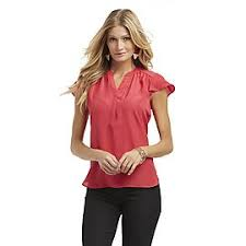 kmart blouses attention s flutter sleeve blouse at kmart com clothes and