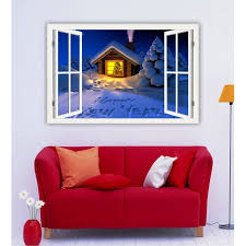 Christmas Window Poster Decorations 29 best window scenery art poster home decor images on pinterest