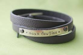 Personalized Name Bracelets Personalized Mommy Bracelet Leather Wrap Bracelet Custom Name