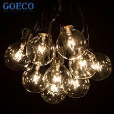 Clear Patio Lights 50ft Globe String Lights G50 50 Clear Globe Bulbs 220 110v Black