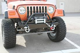jeep wrangler tj light bar winch jeep tj yj front stubby bumper w light bar shackle mounts