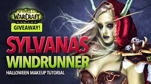 Wow Legion Sylvanas Windrunner Halloween Makeup Tutorial Youtube