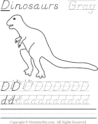mommysbiz d dinosaurs gray preschool worksheet by danahaynes on