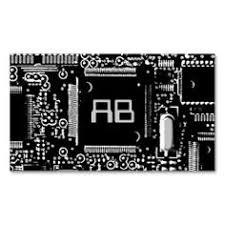 It Technician Business Card Circuit Blue 2 U0027it Technician U0027 Business Card Business Cards