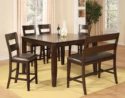 dining room sets with fabric chairs urban view pub table dark cherry levin furniture