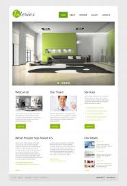 interior design moto cms html template 44612