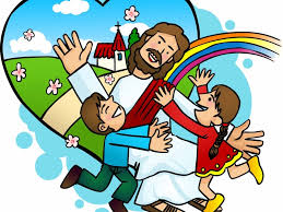 jesus and the little children 23334 free clip art images
